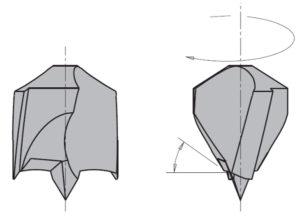 Сверло глухое длинное хвост на 30мм_ режущая часть