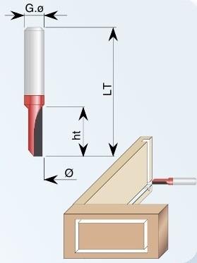 1091 Фреза концевая пазовая  D=4*12*50 d=8