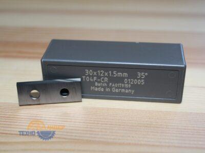 Пластина твердосплавная 30х12х1.5 мм T04F (Tigra) 012005