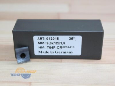 Пластина твердосплавная 9.6х12х1.5 мм T04F (Tigra) 012015