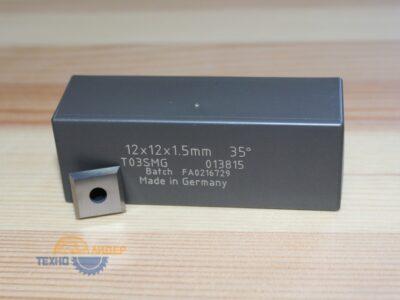 Пластина твердосплавная 12х12х1.5 мм T03SMG (Tigra) 013815