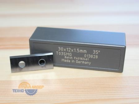 Нож сменный по ДСП, МДФ 30х12х1.5 T03SMG Tigra 013828