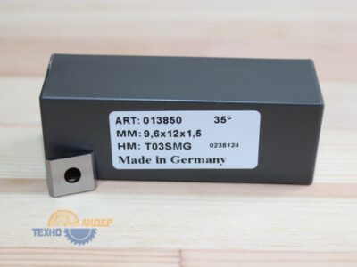 Пластина твердосплавная 9.6х12х1.5 мм T03SMG (Tigra) 013850