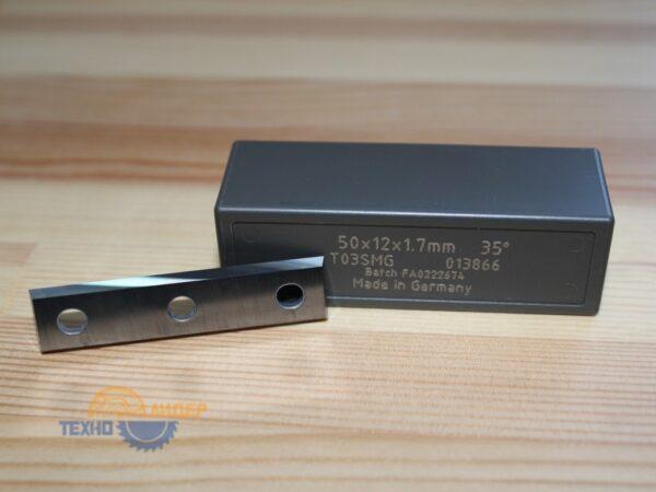 Нож сменный по ДСП, МДФ 50х12х1.7 z4 T03SMG 3 отв. Tigra 013866