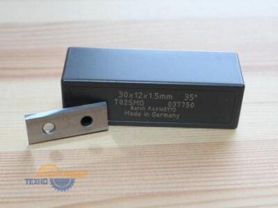Пластина твердосплавная 30х12х1.5 мм T02SMG (Tigra) 037750