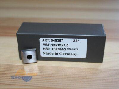Пластина твердосплавная 12х12х1.5 мм z=4 T02SMG (Tigra) 048357