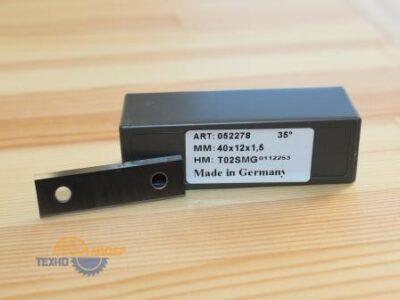 Пластина твердосплавная 40х12х1.5 мм T02SMG (Tigra) 052278