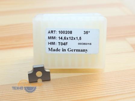 Пластина 14.6х12х1.5 R2 T04F Brandt-для обкатки (Tigra) 100208