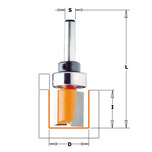 Фреза обгонная (верх. подш.) S=8 D=16×20  CMT 911.160.11B