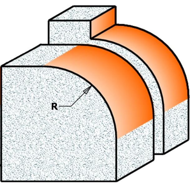 Чертеж, где показана геометрия края после обработки фрезой серии 8/980 производства CMT