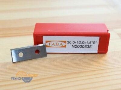 N0000835 Пластина твердосплавная S 30х12х1.5 HW (Faba)