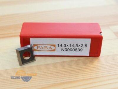 Пластина твердосплавная 14.3х14.3х2.5HW (Faba) N0000839