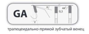 GA трапецеидально-прямой зубчатый венец
