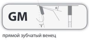 GM форма зуба прямой зубчатый венец