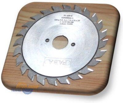 Пильный диск подрезной PI-405S 120×2.8/3.6×22 b=1.0-2.0 Z=2×12 GM HW (FABA) S0500057