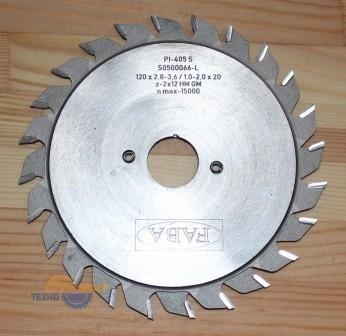 Пильный диск подрезной PI-405S 100*2.8/3.6*20 b=1.0-2.0 Z=2*12 GM HW (FABA) S0500085