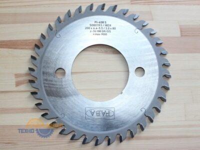 Пильный диск подрезной PI-408S 200×4.4-5.5/3.0×80 Z=36 GR/GS HW 2/14/110 (FABA) S0801193