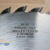 Диск пильный PI-511 250х30*3.5/2.3 Z=30 GM HW 2/10/60 2/7/42 2/9.5/46.5 (FABA) P1100251 12506