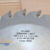 Пильный диск подрезной PI-408T 125×2.8-3.6/2.2×20 Z=24 GR/GM HW (FABA) S0800002 11334