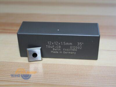 Пластина твердосплавная 12х12х1.5 мм T04F-CR (Tigra) 012002