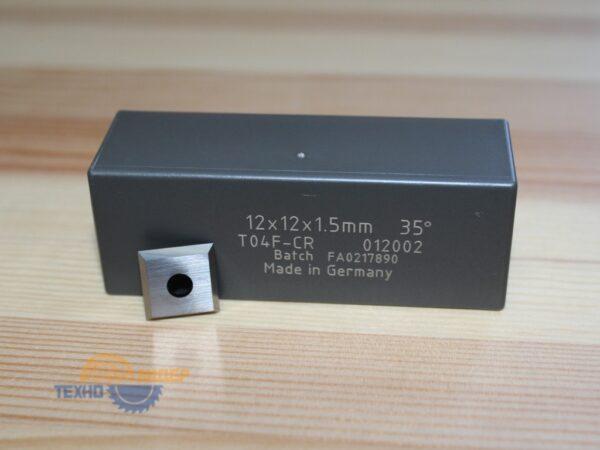 Пластина твердосплавная 12х12х1.5мм T04F-CR Tigra 012002