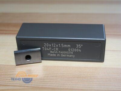 Пластина твердосплавная 20х12х1.5 мм T04F (Tigra) 012004