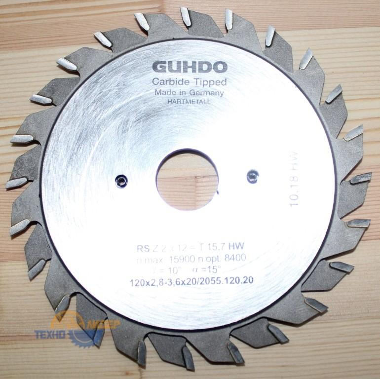 Пильный диск подрезной 120х2.8-3.6х20 Z=12х2 2055.120.20 (Guhdo)