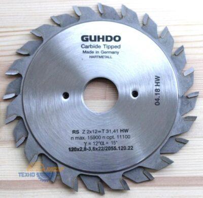 Пильный диск подрезной 120х2.8-3.6х22 Z=12х2 2055.120.22 (Guhdo)