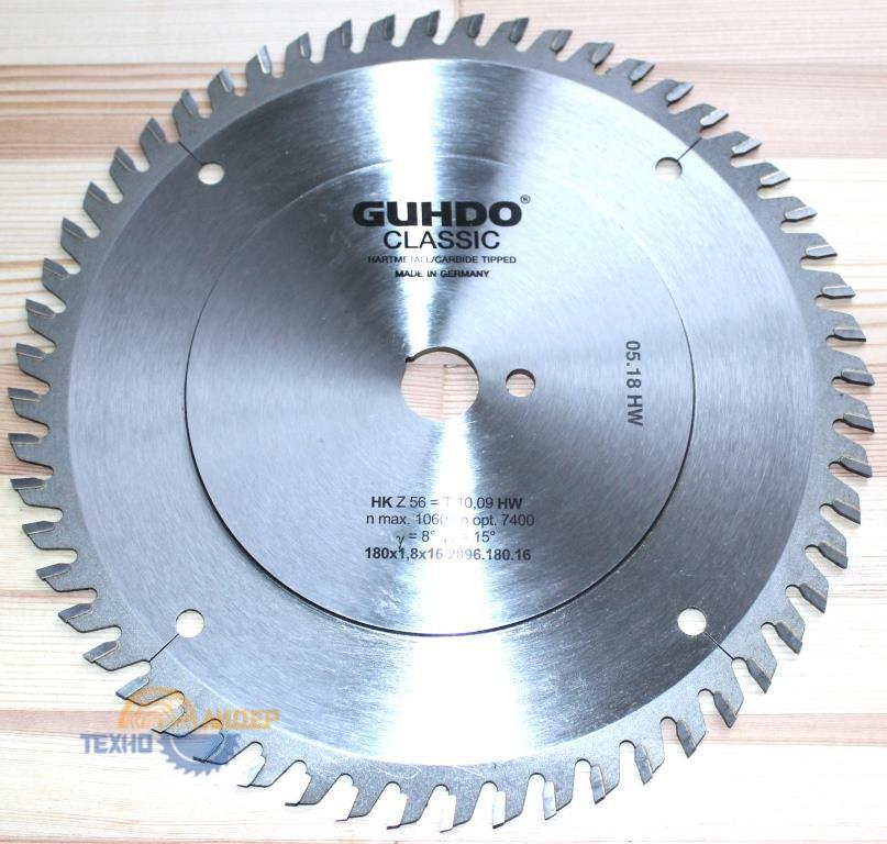 Пильный диск подрезной 180х1.8-2.5х16 Z=56 2096.180.16 (Guhdo)