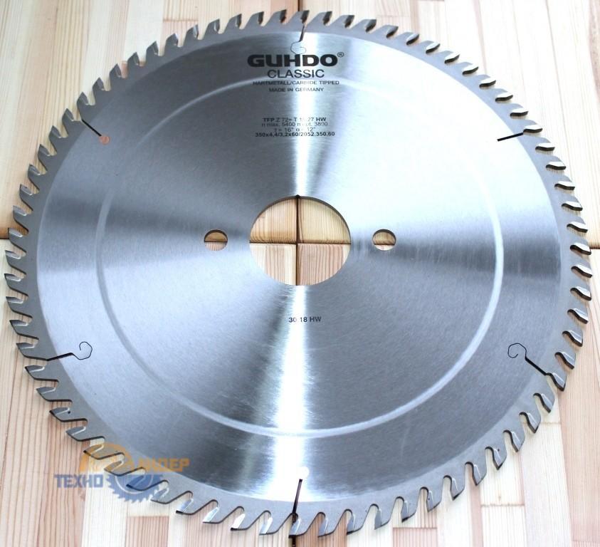 Пильный диск GUHDO 350х4.4/3.2х60 z72 TF 2052.350.60