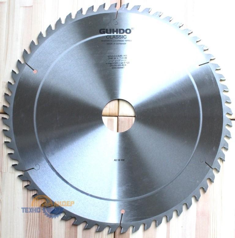 2000-000687 Диск пильный HW 420х60*3.8 z=60 W n.Zg 420-60/3 (Guhdo)