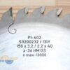 Диск пазовый 150х40_3.2/2.2 z36 GS PI-402 S0200232 FABA 12662