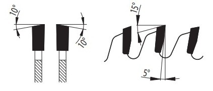 81-11 WZ - пила для распиловки древесины форма зуба