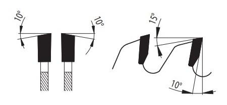 81-16 WZ - пила для распиловки древесины форма зуба