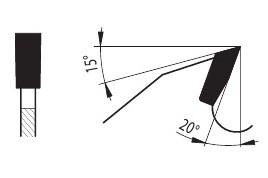94.2 LFZ - пила для резки древесины форма зуба