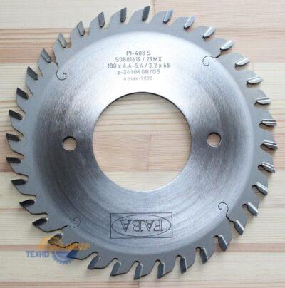 Пильный диск подрезной PI-408S 180×4.4-5.4/3.2×65 z=36 GR/GS (FABA) S0801619