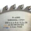 Диск подрезной 200х30_4.4-5.4/3.2 z36 GR/GS PI-408S FABA S0802006 23202
