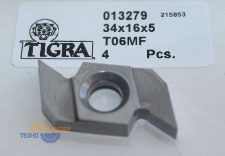 Пластина твердосплавная 34х16х5 мм T06MF (Tigra) 013279