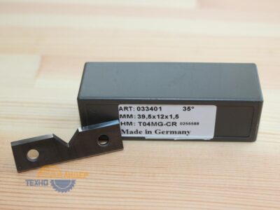 Пластина твердосплавная 39.5х12х1.5 мм T04MG (Tigra) 033401