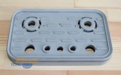 10.01.12.00011 Резиновая накладка для блока (верхняя) VCSP-O 125х75х16.5мм
