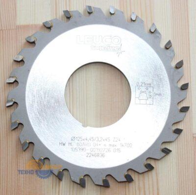Пила дисковая подрезная 125×4.45-5.25×45 Z=24 KO-WS (Leuco) 191968