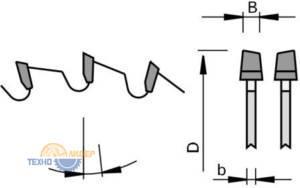 KO-WS - попеременнокосой зуб пильных дисков LEUCO