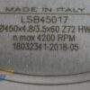 Пильный диск LSB45017 450×4.8/3.5×60 Z=72 FZ/TR (Freud) 11672