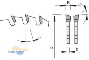 WS - попеременнокосой зуб пильных дисков LEUCO