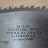 Пильный диск PI-512 S 350*4.0/3.5*30 Z=120 GS HW 2/10/60+2/7/42+2/9.5/46.5 (FABA) P1200226 11803