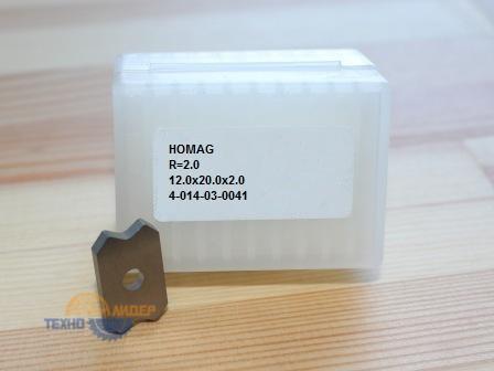 4-014-03-0041 Пластина режущая R 2.0 12.0X20.0X2.0 1 BOHR