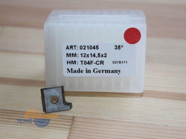 Пластина 12х14.5х2мм R2 L T04F (Tigra) 021045