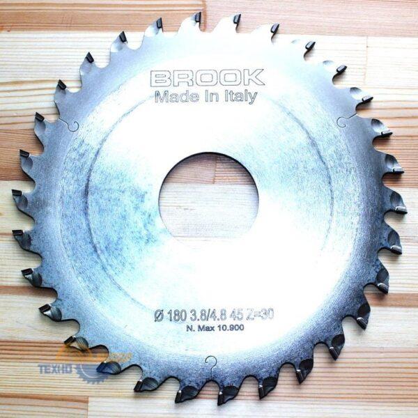 Пильный диск алмазный подрезной DP 180×3.8×45 Z=30 (H=5) (BROOK) HTC1804530