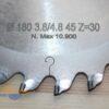 Пильный диск алмазный подрезной DP 180×3.8×45 Z=30 (H=5) (BROOK) HTC1804530 12854