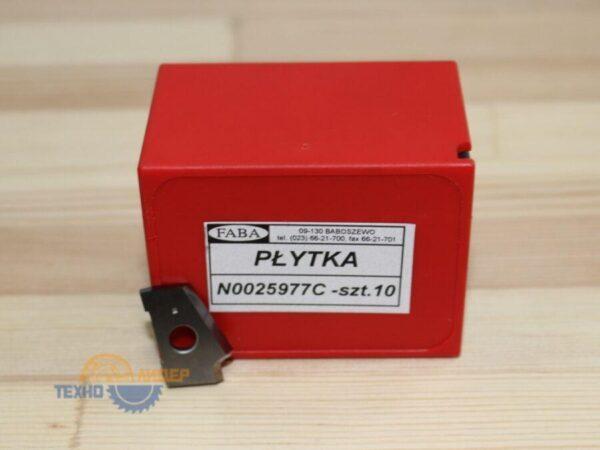 N0025977C Пластина 22.5х14х2 HW L R=1.5 (Brandt) FABA